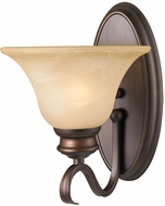 Golden Lighting 6005-1W-RBZ Lancaster Rubbed Bronze Lighting Sconce