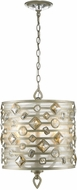 Golden Lighting 6390-3P-WG Coronada White Gold Drum Pendant Hanging Light