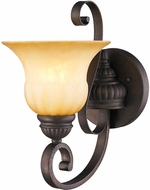 Golden Lighting 7116-1W-LC Mayfair Leather Crackle Wall Sconce Lighting