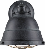 Golden Lighting 7312-1W-BP Bartlett Nautical Black Patina Wall Lamp