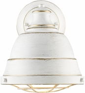 Golden Lighting 7312-1W-FW Bartlett French White Light Sconce