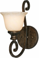 Golden Lighting 8063-1W-BUS Heartwood Burnt Sienna Light Sconce