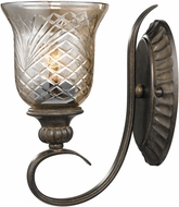Golden Lighting 8118-1W-BUS Alston Place Burnt Sienna Wall Light Fixture