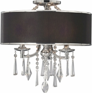 Golden Lighting 8981-SF-GRM Echelon Chrome Flush Mount Lighting Fixture / Pendant Light