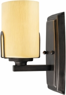Golden Lighting 9363-1W-GMT-OP Presilla Gunmetal Bronze Wall Light Sconce