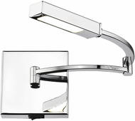 Golden Lighting C200-R-CH Sleep Contemporary Chrome LED Swing Arm Wall Lamp