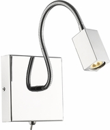 Golden Lighting C204-SQ-CH Ply Modern Chrome LED Swing Arm Wall Lamp
