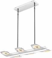 Golden Lighting C428-L6-CH Oslo Contemporary Chrome LED Island Lighting