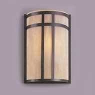 Hi-Lite Manufacturing H-12252-B-77-HI Rosewood Finish 12  Tall Wall Sconce Lighting