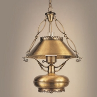 Hi-Lite Manufacturing H-124-D-22 Traditional Weathered Brass Finish 22  Wide Drop Lighting