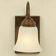 Hi-Lite Manufacturing H-1751-B-77 Rosewood Finish 5  Wide Wall Mounted Lamp