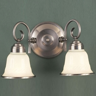 Hi-Lite Manufacturing H-1965-2B-11 Hamilton Satin Steel Finish 9  Tall Wall Lighting Fixture