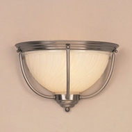Hi-Lite Manufacturing H-1994-B-11 Hamilton Satin Steel Finish 13  Wide Wall Lighting