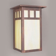 Hi-Lite Manufacturing H-241-B-77-HI Craftsman Rosewood Finish 10  Tall Exterior Wall Sconce Lighting