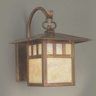 Hi-Lite Manufacturing H-251-B-77-HI Craftsman Rosewood Finish 9  Wide Outdoor Wall Mounted Lamp