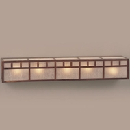 Hi-Lite Manufacturing H-255-5B Craftsman 6  Tall 5-Light Bathroom Wall Sconce