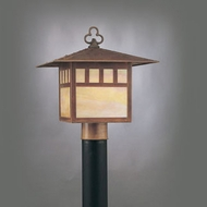 Hi-Lite Manufacturing H-258-P-77-HI Craftsman Rosewood Finish 12  Wide Outdoor Pole Lighting Fixture