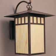 Hi-Lite Manufacturing H-259-B-77-HI Craftsman Rosewood Finish 18  Tall Exterior Wall Lighting Fixture
