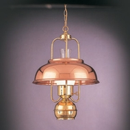 Hi-Lite Manufacturing H-283-D-41 Polished Brass/Polished Copper Finish 23  Tall Pendant Lighting Fixture