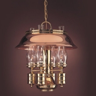Hi-Lite Manufacturing H-284-D-41 Polished Brass/Polished Copper Finish 20  Tall Hanging Pendant Lighting