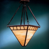 Hi-Lite Manufacturing H-2860-D-77-HI Craftsman Rosewood Finish 15  Wide Hanging Pendant Light