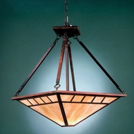 Hi-Lite Manufacturing H-2870-D-77-HI Craftsman Rosewood Finish 17  Wide Pendant Hanging Light