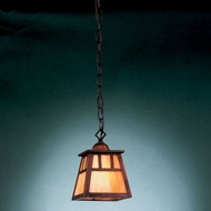 Hi-Lite Manufacturing H-2871-D-77-HI Craftsman Rosewood Finish 9  Tall Mini Hanging Light Fixture