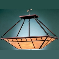 Hi-Lite Manufacturing H-2880-F-77-HI Craftsman Rosewood Finish 15  Wide Kitchen Island Light
