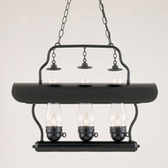 Hi-Lite Manufacturing H-3X-D-91-CLR Tavern Black Finish 20  Tall Island Light Fixture