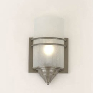 Hi-Lite Manufacturing H-701-B-11-CLD Satin Steel Finish 15  Tall Sconce Lighting