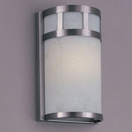 Hi-Lite Manufacturing H-7101-B-11-CLD Satin Steel Finish 6  Wide Lamp Sconce