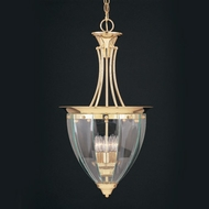 Hi-Lite Manufacturing H-721-D-CLR-BVL Beveled Traditional 15  Wide Foyer Drop Ceiling Light Fixture