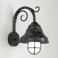 Hi-Lite Manufacturing H-7330-B-9-91-FR Lakeside Black Finish 9  Wide Wall Light Sconce