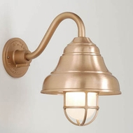 Hi-Lite Manufacturing H-7331-B-24-FR Lakeside Satin Copper Finish 15  Tall Wall Sconce Light