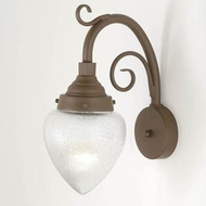 Hi-Lite Manufacturing H-7350-B-9-BR47 Lakeside Powder Coat Rust Finish 16  Tall Wall Sconce