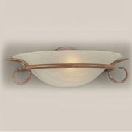 Hi-Lite Manufacturing H-8121-B-88-CLD Mendocino Burnt Brass Finish 15  Wide Wall Light Fixture