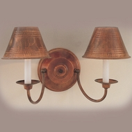 Hi-Lite Manufacturing H-8132-B-77 Rosewood Finish 10  Tall Wall Lighting Sconce