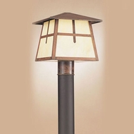 Hi-Lite Manufacturing H-8175-P-77-HI Craftsman Rosewood Finish 10  Wide Exterior Lamp Post Light