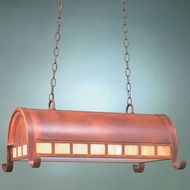 Hi-Lite Manufacturing H-STNTG-D-77-HI Rosewood Finish 15  Tall Island Light Fixture