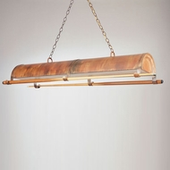 Hi-Lite Manufacturing H-TNT-D-77 Rosewood Finish 17  Wide Kitchen Island Light Fixture