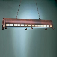 Hi-Lite Manufacturing H-TNTG-77-HI Rosewood Finish 17  Wide Island Lighting