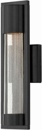 Hinkley 1220SK Mist Modern Satin Black Halogen Exterior Lighting Sconce