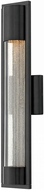 Hinkley 1224SK Mist Contemporary Satin Black Halogen Outdoor Wall Light Fixture