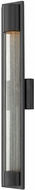 Hinkley 1225SK Mist Modern Satin Black Halogen Exterior Wall Sconce Lighting
