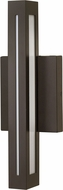 Hinkley 12312BZ Vue Contemporary Bronze LED Outdoor Light Sconce