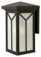 Hinkley 1995OZ Drake Large Outdoor 21 Inch Tall Oil Rubbed Bronze Sconce Lighting