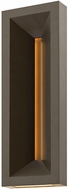 Hinkley 20305BZ Plaza Modern Bronze LED Exterior Wall Lighting Sconce