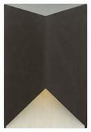 Hinkley 2180SK Vento Modern Satin Black Finish 6  Wide Outdoor Wall Sconce Light