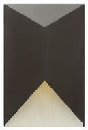 Hinkley 2184SK Vento Modern Satin Black Finish 8  Wide Outdoor Wall Lamp