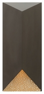 Hinkley 2185BZ Vento Contemporary Bronze Finish 18  Tall Exterior Wall Lighting